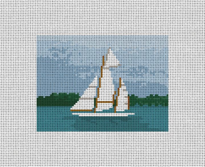Classic Sailing Needlepoint Card Wallet Canvas