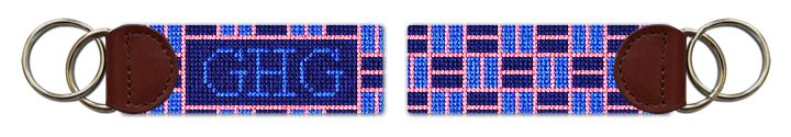 Classic Weave Needlepoint Key Fob