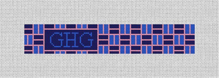 Classic Weave Needlepoint Key Fob Canvas
