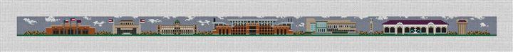College Station Texas Needlepoint Belt Canvas