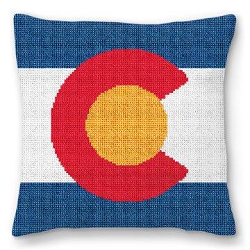 Colorado Needlepoint Pillow