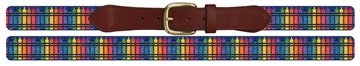 Colorful Crayon Needlepoint Belt