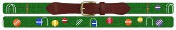 Colorful Croquet Needlepoint Belt