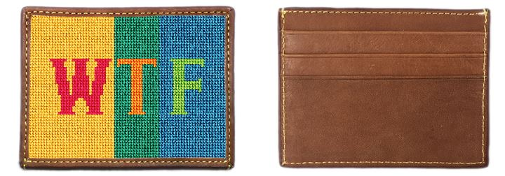 Colorful Expression Needlepoint Card Wallet