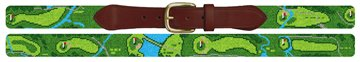 Conroe Country Club Golf Course Needlepoint Belt