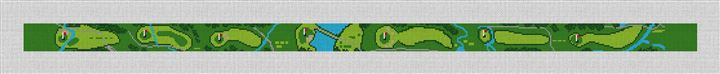 Conroe Country Club Golf Needlepoint Belt Canvas