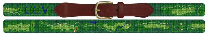 Country Club of Virginia Needlepoint Belt