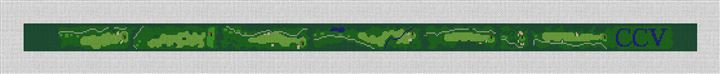 Country Club of Virginia Needlepoint Belt Canvas