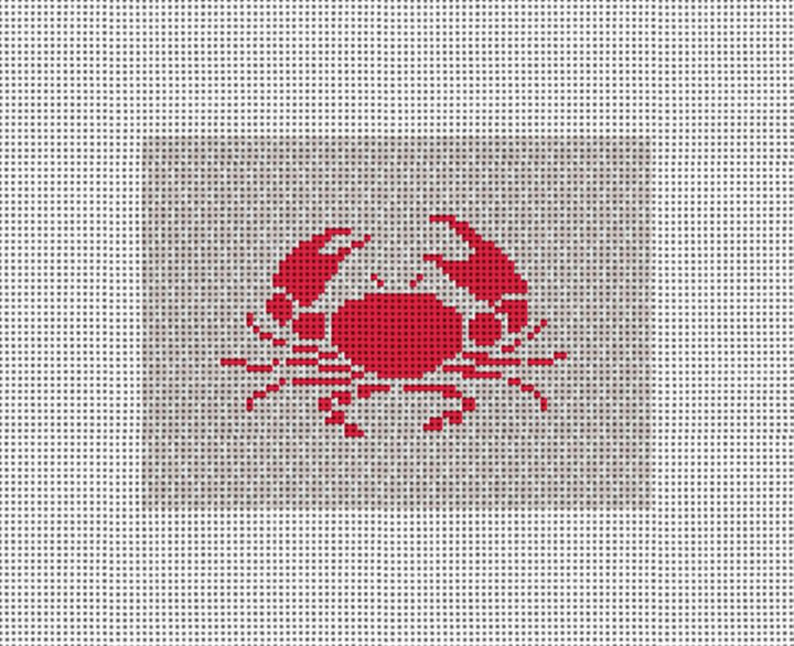 Crab Needlepoint Card Wallet Canvas