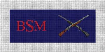 Crossed Shotguns Needlepoint Wallet Canvas