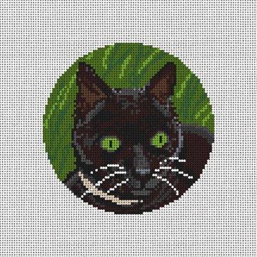 Curious Cat Needlepoint Ornament Canvas