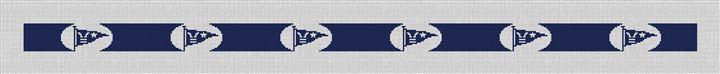 Custom Burgee Flag Needlepoint Belt Canvas