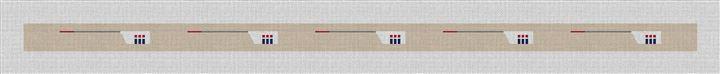 Custom Crew Team Needlepoint Belt Canvas