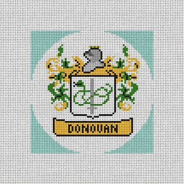 Custom Family Crest Ornament Needlepoint Canvas
