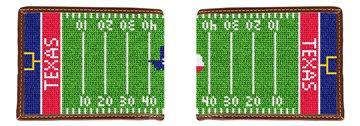 Custom Football Field Needlepoint Wallet
