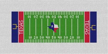 Custom Football Field Needlepoint Wallet Canvas