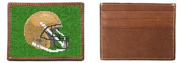 Custom Football Helmet Needlepoint Card Wallet