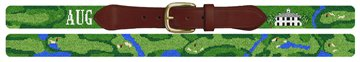 Custom Golf Course Needlepoint Belt
