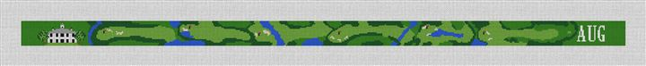 Custom Golf Course Needlepoint Belt Canvas