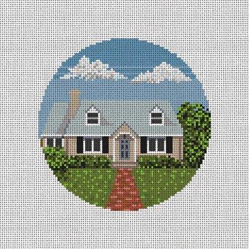 Custom Home Needlepoint Ornament Canvas