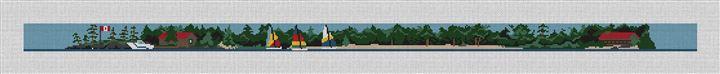 Custom Landscape Needlepoint Canvas