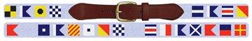 Custom Nautical Signal Flag Needlepoint Belt