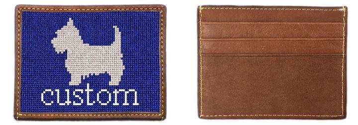 Custom Needlepoint Card Wallet