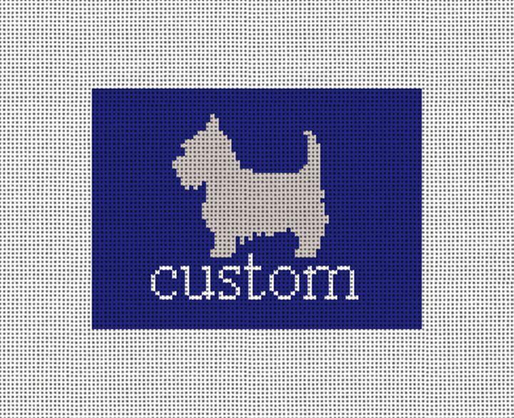 Custom Needlepoint Card Wallet Canvas