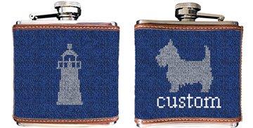 Custom Needlepoint Flask
