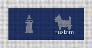 Custom Needlepoint Flask Canvas