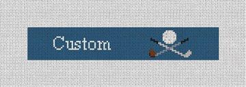 Custom Needlepoint Key Fob Canvas