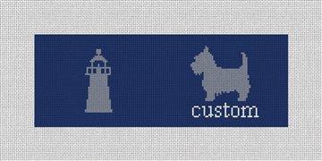 Custom Needlepoint Wallet Canvas