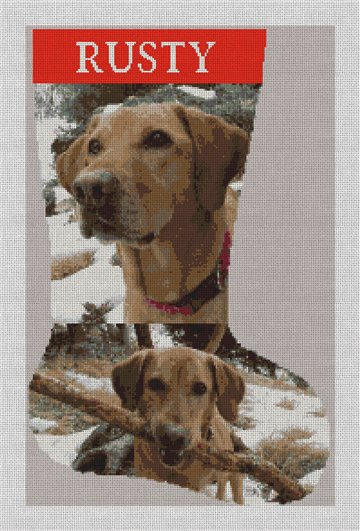 Custom Photo Needlepoint Stocking Canvas