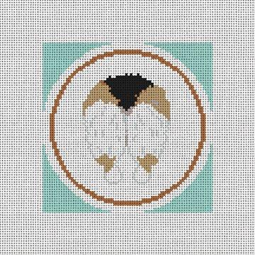 Dark Brown Corgi Backside Needlepoint Canvas