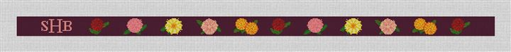 Darling Dahlias Needlepoint Belt Canvas