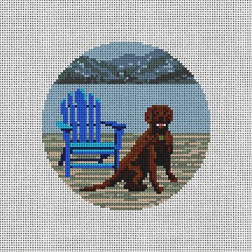 Day at the Lake Needlepoint Ornament Canvas