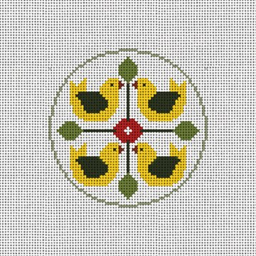 Day Four Christmas Ornament Needlepoint Canvas