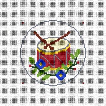 Day Twelve Christmas Ornament Needlepoint Canvas