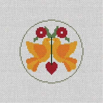 Day Two Christmas Ornament Needlepoint Canvas