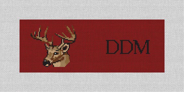 Deer Head Needlepoint Wallet Canvas
