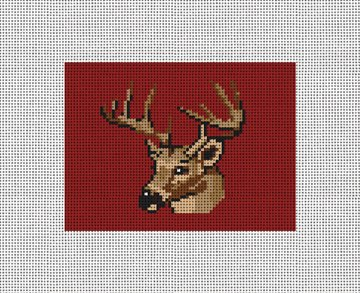 Deer Hunting Needlepoint Card Wallet Canvas