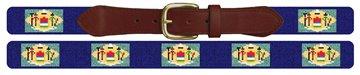 Delaware Flag Needlepoint Belt