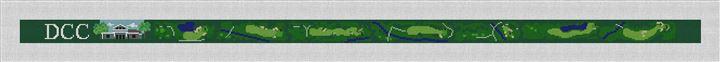 Denver Country Club Golf Needlepoint Belt Canvas