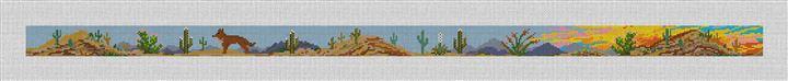 Desert Sunset Landscape Needlepoint Belt Canvas