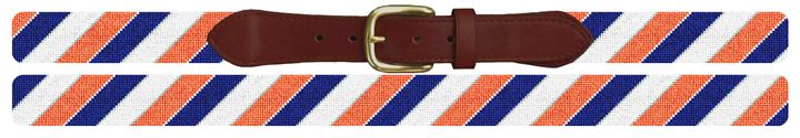 Diagonal Stripe Needlepoint Belt