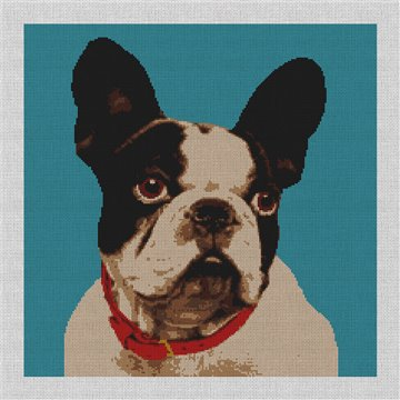Dog Needlepoint Canvas for Pillow