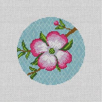 Dogwood Blossom Needlepoint Ornament Canvas