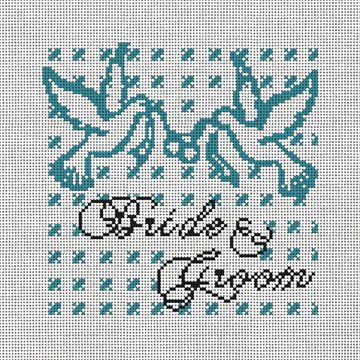 Doves of Peace Wedding Pillow Needlepoint Canvas