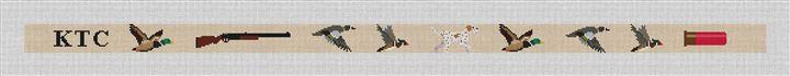 Duck Hunting Belt Needlepoint Canvas
