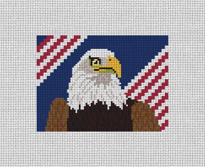 Eagle Needlepoint Card Wallet Canvas
